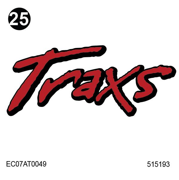"""Traxs Logo 8"""" x 19"""""""