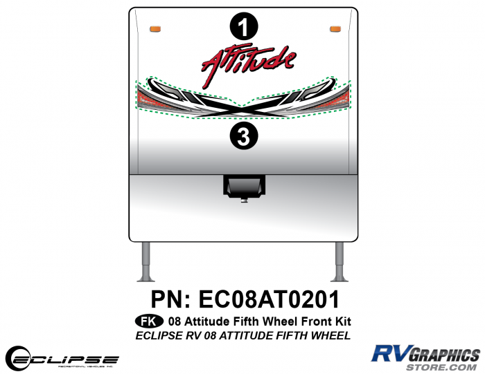 2008 Attitude Fifth Wheel Front Graphics Kit