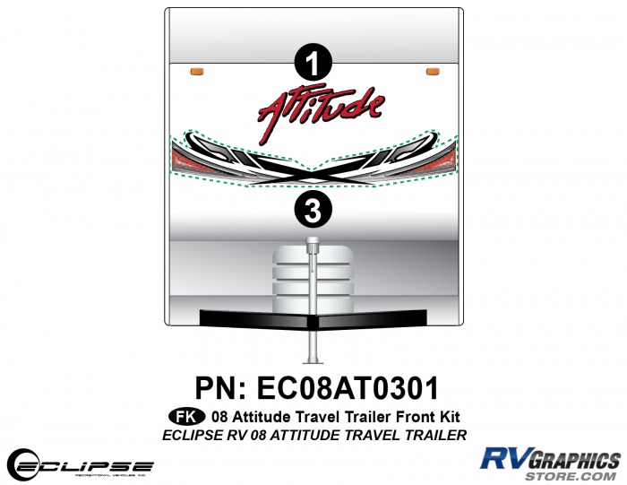 2008 Attitude Travel Trailer Front Graphics Kit
