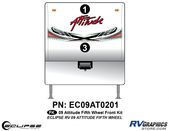 2009 Attitude Fifth Wheel Front Graphics Kit