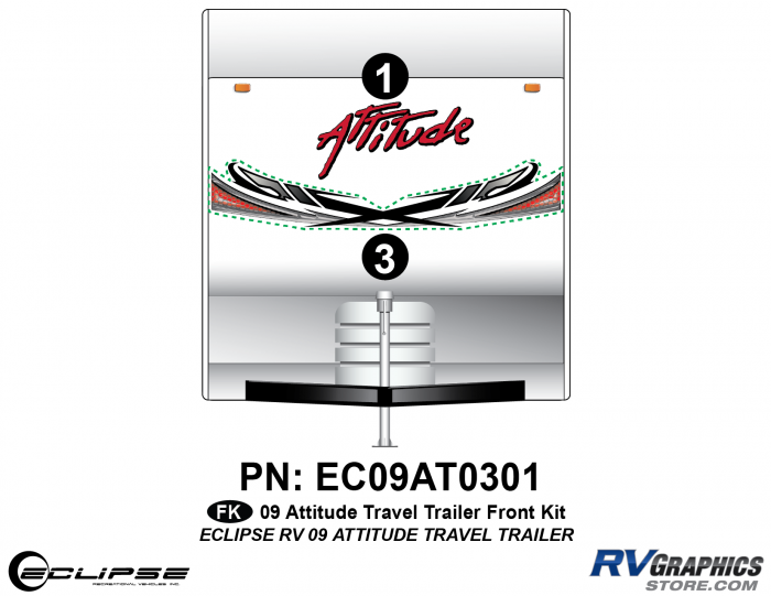 2009 Attitude Travel Trailer Front Graphics Kit