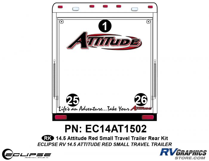 2014.5 Red  Attitude Sm TT Rear Graphics Kit
