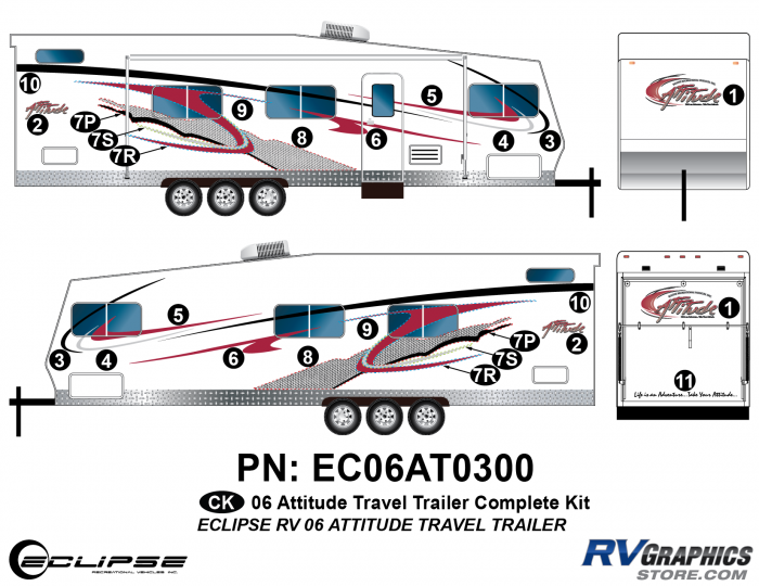 2006 Attitude Travel Trailer Complete Graphics Kit