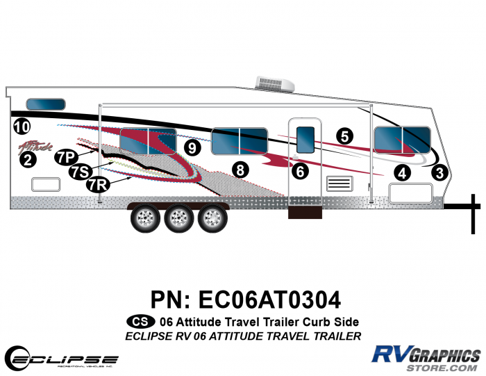 2006 Attitude Travel Trailer Right Side Graphics Kit