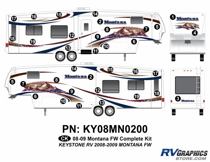 2008 Keystone Montana FW Complete Graphics Kit
