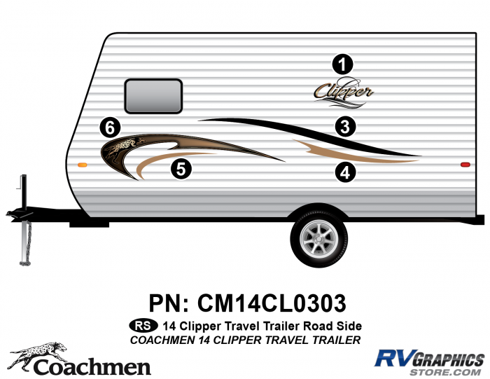 2014 Coachmen Clipper Roadside (Left) Kit