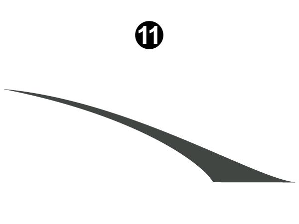 Mid Lower Fender Wedge-C/S (Curbside) RH / PS