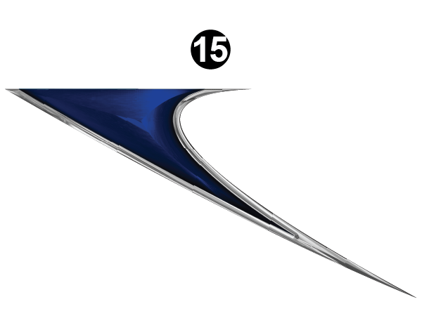 Rear Upper Wedge-C/S (Curbside) RH / PS
