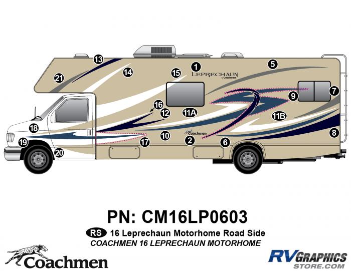 20 Piece 2016 Leprechaun Class C Roadside Graphics Kit