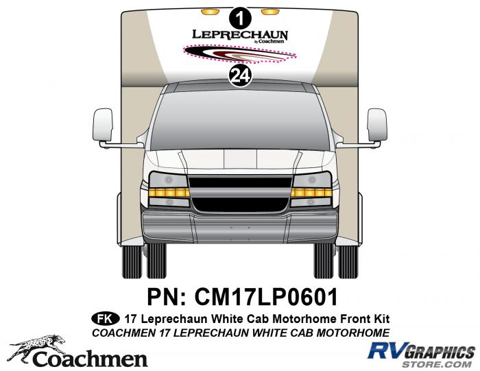 2 piece 2016 (Late) Leprechaun White Cab Front kit