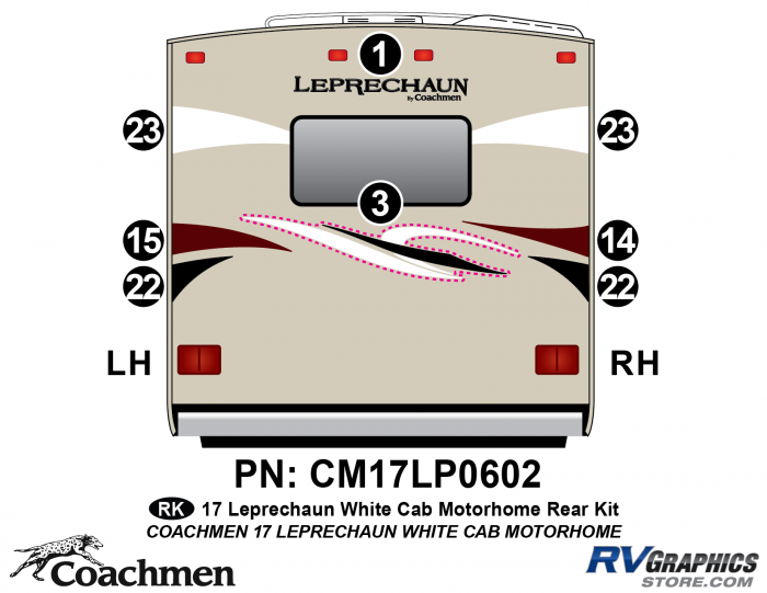 8 piece 2016 (Late) Leprechaun White Cab Rear kit