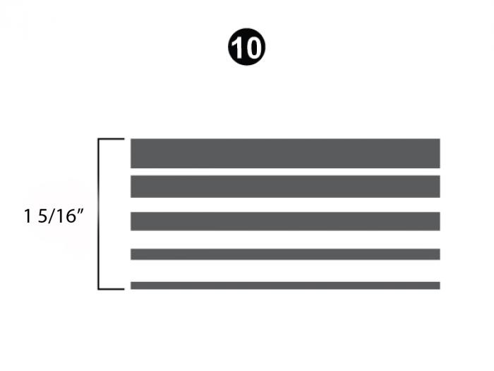 "Upper Stripe; 1 1/2"" x 25' Roll"