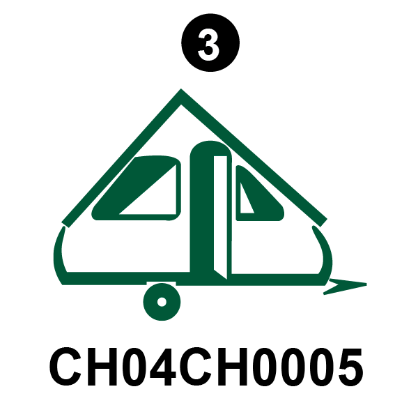 Rear Chalet Silhouette Icon; Blue