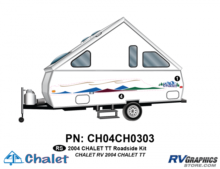 2 Piece 2004 Chalet TT Roadside Graphics Kit