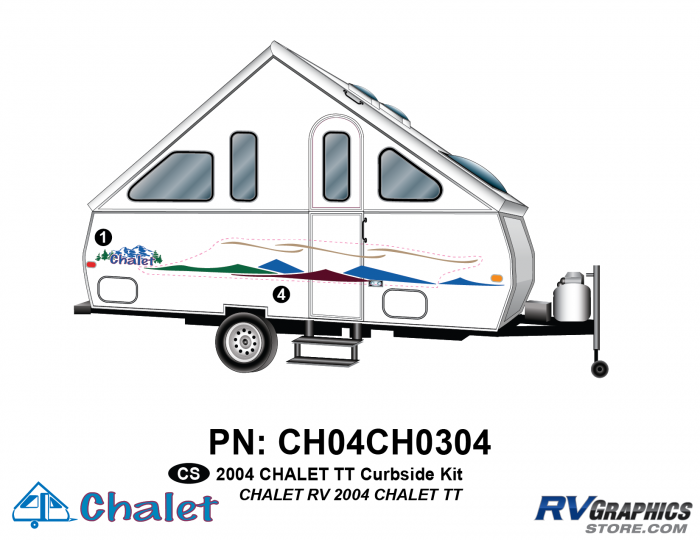 2 Piece 2004 Chalet TT Curbside Graphics Kit