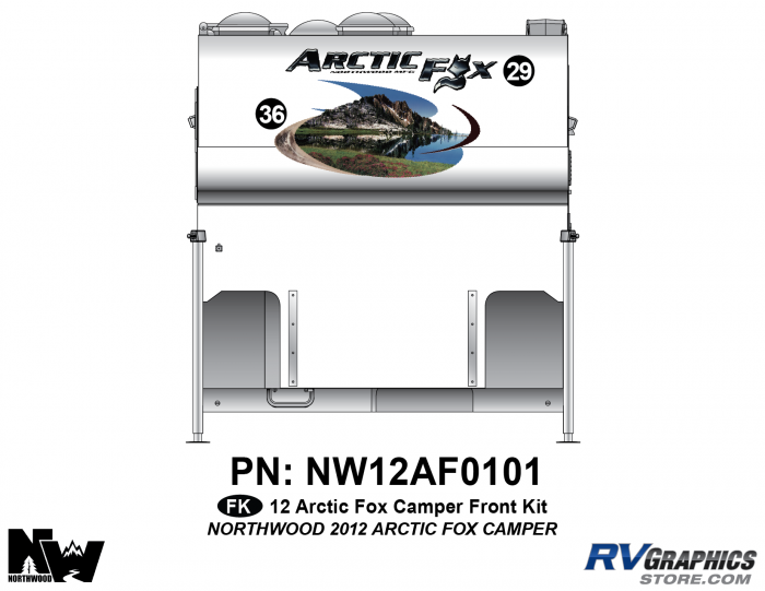 2012 Arctic Fox Camper Front Kit