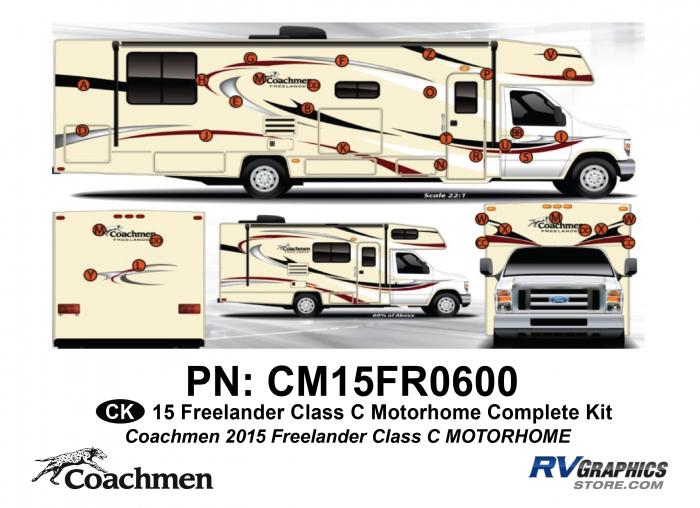 58 Piece 2015 Freelander Class C MH Complete Graphics Kit