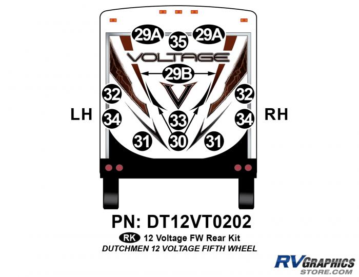 14 Piece 2012 Voltage FW Rear Graphics Kit