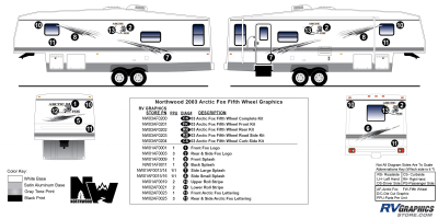 Northwood - Arctic Fox - 2003 Arctic Fox FW-Fifth Wheel