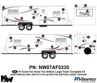 Arctic Fox Silver Fox Edition - 2007 TT-Large - 2007 Arctic Fox Large Travel Trailer SFE Complete Kit