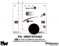 Arctic Fox - 2007 Arctic Fox TT-Medium - 2007 Arctic Fox Med Travel Trailer Rear Kit