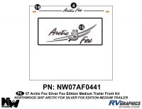 Arctic Fox Silver Fox Edition - 2007 TT-Medium - 2007 Arctic Fox Med Travel Trailer SFE Front Kit