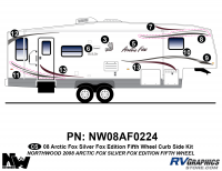 Arctic Fox Silver Fox Edition - 2008 FW-Fifth Wheel - 2008 Arctic Fox Silver Fox Edition FW Right Side Kit