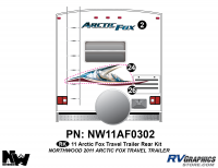 Arctic Fox - 2011 Arctic Fox TT-Travel Trailer - 2011 Arctic Fox Travel Trailer Rear Kit
