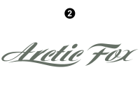 Arctic Fox - 2013 Arctic Fox Camper - Side and Rear Arctic Fox logo