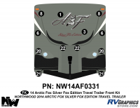 Arctic Fox Silver Fox Edition - 2014 TT-Travel Trailer - 2014 Arctic Fox Silver Fox Edition TT Front Kit
