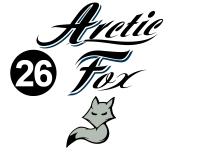 Arctic Fox - 2015 Arctic Fox Camper - Camper Rear AF Logo