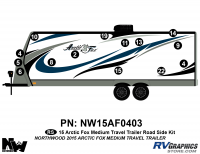 Arctic Fox - 2015 Arctic Fox TT-Medium - 2015 Arctic Fox Medium Travel Trailer Left Side Kit