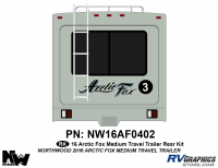 Arctic Fox - 2016 Arctic Fox TT-Medium - 2016 Arctic Fox Medium Travel Trailer Rear Kit