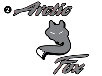Arctic Fox - 2004 Arctic Fox TT-Large - Vertical Arctic Fox Logo