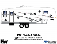 Arctic Fox - 2004 Arctic Fox FW-Fifth Wheel - 2004 Arctic Fox Fifth Wheel Right Side Kit