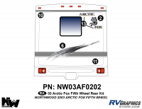 Arctic Fox - 2003 Arctic Fox FW-Fifth Wheel - 2003 Arctic Fox Fifth Wheel Rear Kit
