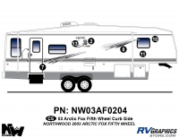 Arctic Fox - 2003 Arctic Fox FW-Fifth Wheel - 2003 Arctic Fox Fifth Wheel Right Side Kit