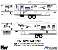Arctic Fox - 2001 Arctic Fox FW-Fifth Wheel - 2001 Arctic Fox Fifth Wheel Complete Kit