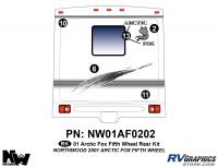 Arctic Fox - 2001 Arctic Fox FW-Fifth Wheel - 2001 Arctic Fox Fifth Wheel Rear Kit