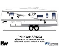 Arctic Fox - 2001 Arctic Fox FW-Fifth Wheel - 2001 Arctic Fox Fifth Wheel Left Side Kit