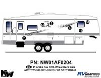 Arctic Fox - 2001 Arctic Fox FW-Fifth Wheel - 2001 Arctic Fox Fifth Wheel Right Side Kit