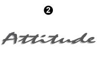 """Attitude - 2003 Attitude Toyhauler Trailer - Small Attitude Logo 30"""""""