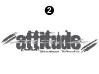"""Attitude - 2004 Attitude Toyhauler Trailer - 04 Small Attitude Logo 30"""""""