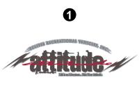 "Attitude - 2005 Attitude Toyhauler Trailer - Large Attitude Logo 44.125"""