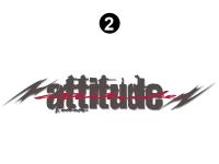 """Attitude - 2005 Attitude Toyhauler Trailer - Small Attitude Logo 27"""""""