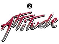 """Attitude - 2006 Attitude Toyhauler Trailer - Small Attitude Logo 26.8"""""""