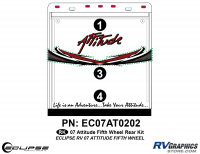 Attitude - 2007 FW-Fifth Wheel - 2007 Attitude Fifth Wheel Rear Graphics Kit