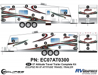 Attitude - 2007 Attitude Toyhauler Trailer - 2007 Attitude Travel Trailer Complete Graphics Kit