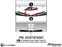 Attitude - 2007 Attitude Toyhauler Trailer - 2007 Attitude Travel Trailer Front Graphics Kit