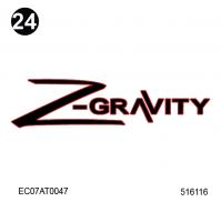 Attitude - 2010 Additional Items - Z-Gravity Logo 5.5 x 22.5